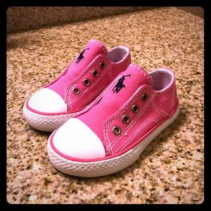 Polo Ralph Lauren Pink Low Top Slip On Shoes